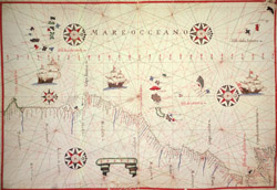 Portolan Chart of Atlantic Coast of North Africa and Straits of Gibraltar